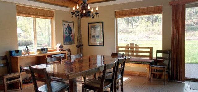 Storm Mountain Cottage Dining Room